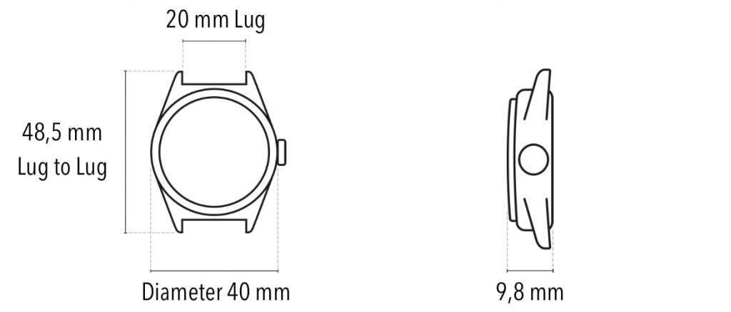 Subdelta watches size