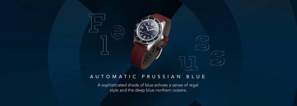 Spinnaker Fleuss PRUSSIAN BLUE banner