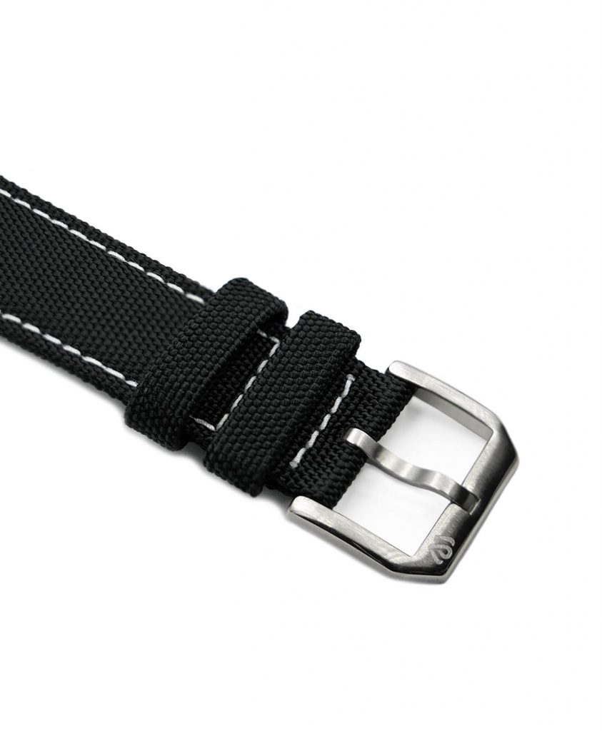 Wristporn Sailcloth Watch strap black-buckle