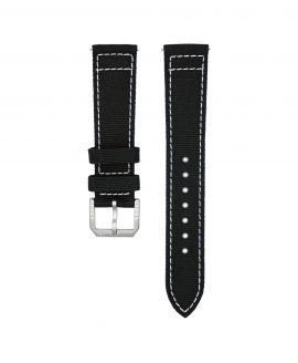 Wristporn Sailcloth Watch strap black-front