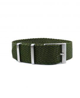 Premium Perlon Watch Strap - Green Black - Watchbandit