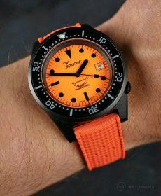 Orange Tropical-Style rubber strap by WB Original
