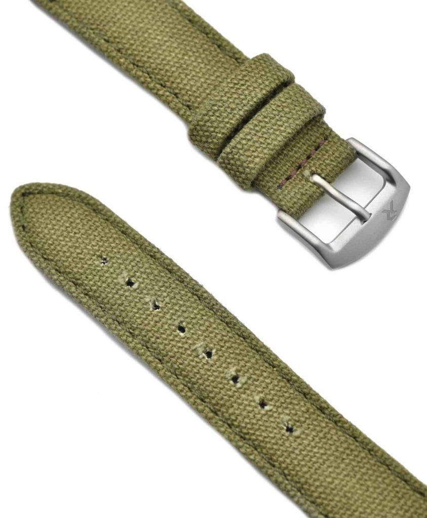 RZE - Canvas Watch Strap - 20mm - CamoGreen