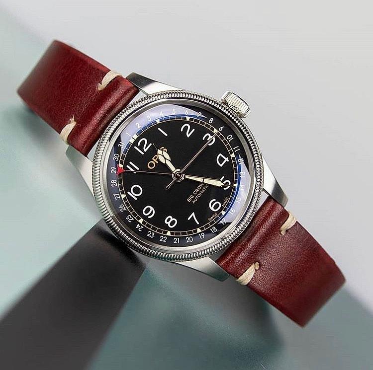 oris big crown pointer date WatchBandit vintage watch strap by orisfanboy