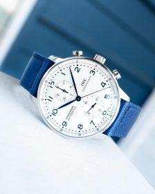 IWC Chronograph Blau WB Original two-piece NATO by @gulenissen