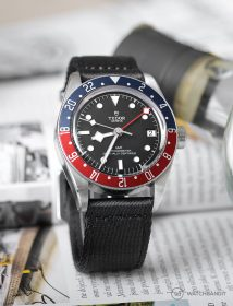 Tudor Black Bay GMT an Schwarz zweiteilig WB Original NATO Uhrenarmband by @tempusx