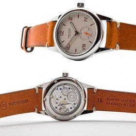 Rolex Explorer II WB original cognac brown vintage leather wristshot