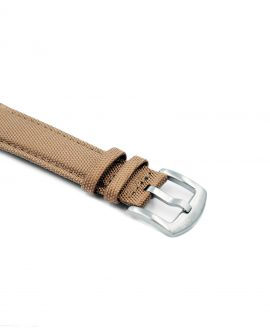 Cordura Watch Strap khaki stainless steel buckle by Watchbandit