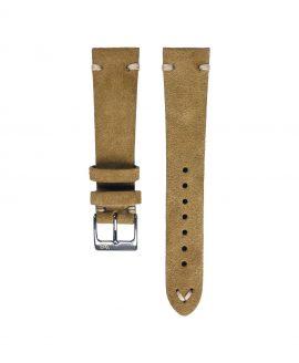 WB original premium suede watch strap beige front