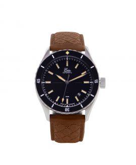 WB_Eza – Sealander –black- Black – Diamond Quilted Cognac-front