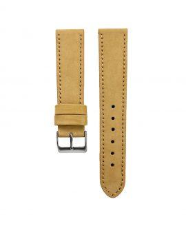 Pebro Premium Calfskin Watch Strap Mustard Beige No 580