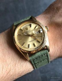 Rolex Day-Date an grünen Canvas-Armband von WB Original