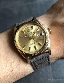 Rolex Day-Date an grauen Canvas-Armband von WB Original