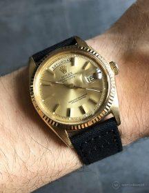 Rolex Day-Date an schwarzen Canvas-Armband von WB Original