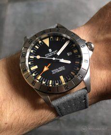 Steinhart Ocean Vintage GMT Strap guide dunkelgrau canvas leinen strap watchbandit