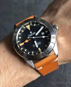 Steinhart Ocean Vintage GMT Strap guide cognac Vintageleder Uhrenarmband