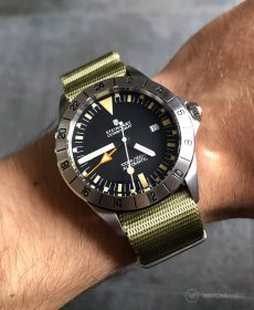 Steinhart Ocean Vintage GMT Strap guide khaki grün NATO Uhrenarmband-min