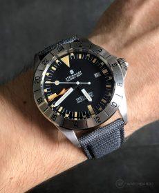 Steinhart Ocean Vintage GMT Strap guide grau segeltuch cordura uhrenarmband