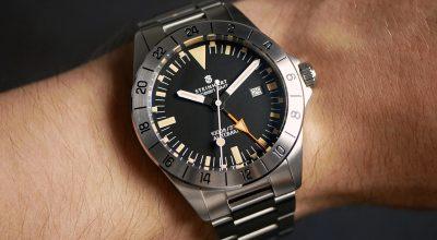 Steinhart Ocean Vintage GMT am Handgelenk wrist shot