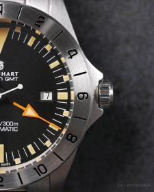 Steinhart Ocean Vintage GMT Zifferblatt Makro