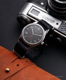 NOMOS Club Campus dunkel premium NATO uhrenarmband schwarz Watchbandit