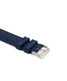 Tropical Rubber watch strap_Blue_Buckle