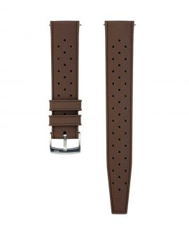 Tropical Rubber watch strap_Brown_Front