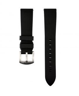 Classic plain Rubber watch strap_Black_Front