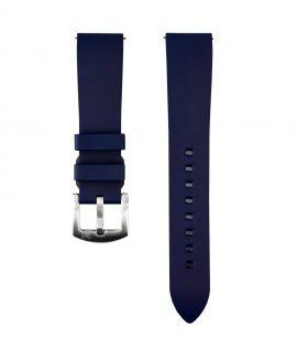 Classic plain Rubber watch strap_Blue_Front