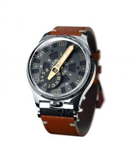 Gruppo Gamma_NEXUS ND-02_side damascus steel watch case