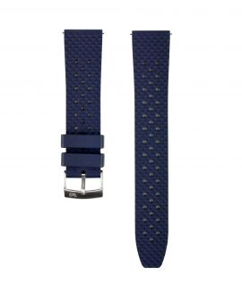 Honeycomb Rubber watch strap_Blue_Front