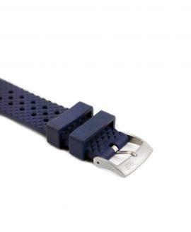 Rhombus Rubber watch strap_Blue_Side