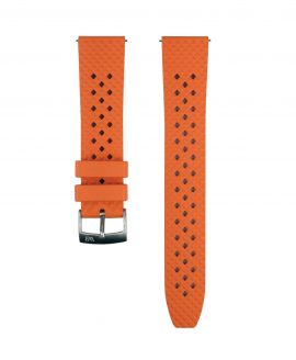 Honeycomb FKM Rubber watch strap_Orange_Front