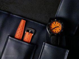 Squale-Luminoso Arancia PVD-Watch roll