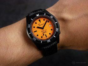 Squale-Luminoso Arancia PVD-wrist shot 3