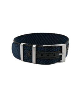 Premium Adjustable Single-Pass Nato Strap_Black Blue_WB Original