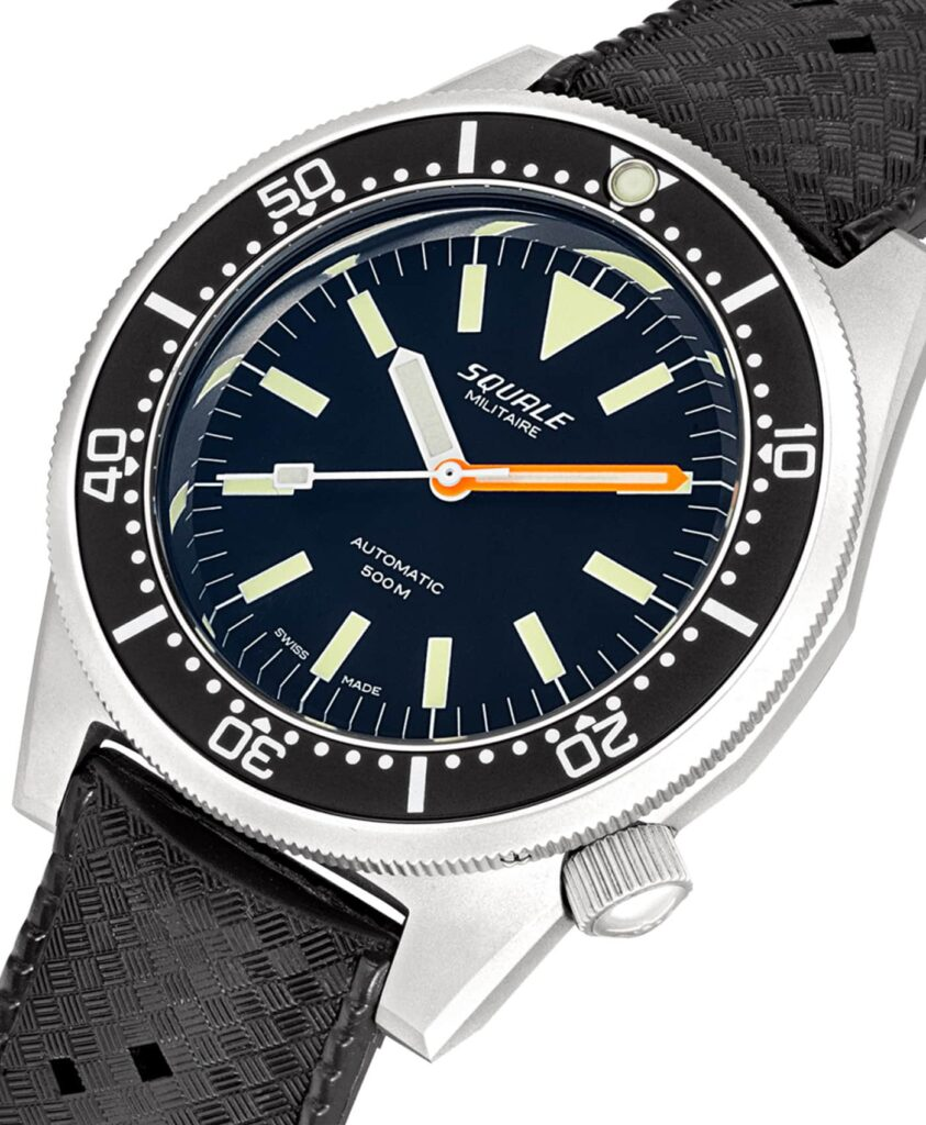 Squale 1521-026-A Militaire Blasted_close up